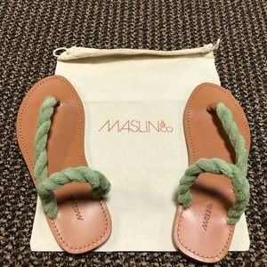 Maslin & Co Terry Cloth Riviera Sandal - Mint